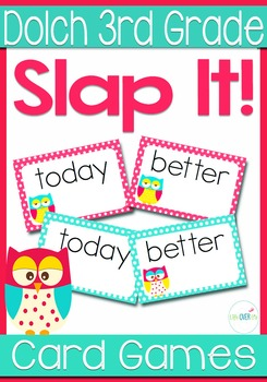 Dolch Words 3rd Grade Sight Words Slap-It Card Game/Center