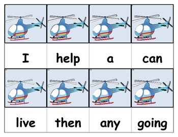 Dolch Words Flashcards - Helicopter