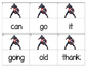 Dolch Words Flashcards (Large) - Captain America