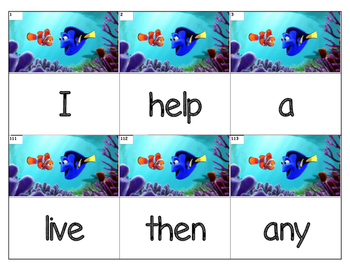 Dolch Words Flashcards (Large) - Dory