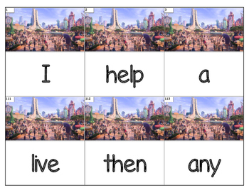 Dolch Words Flashcards (Large) - Zootopia