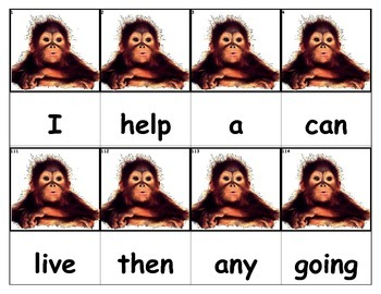 Dolch Words Flashcards - Monkey Baby