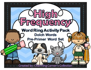Dolch Words ~ High Frequency Word Rings Set 1