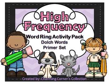 Dolch Words ~ High Frequency Word Rings Set 2