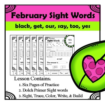 Sight Words Homework