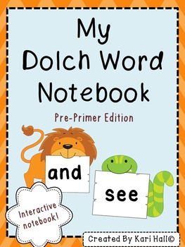 Dolch Words Interactive Notebook {Pre-Primer List}