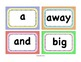 Dolch Words Pre-Primer Word Wall Cards