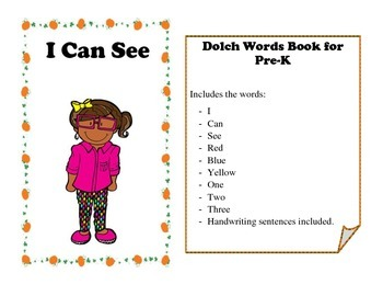 Dolch Words Tracing Book - I Can See (Fall Theme)