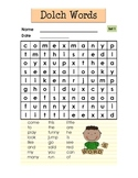 Dolch Words Word Searches (Sets 1 to 9)
