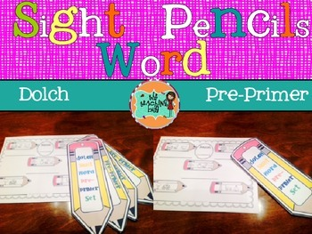 Dolch sight word mystery word pencils