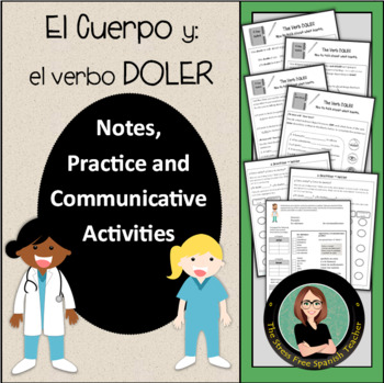 Doler / Cuerpo, Grammar Notes with Built in Practice / Com