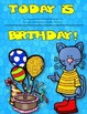 Dollar Deal! Cool Cats Birthday Board! Editable