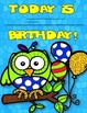 Dollar Deal! Owl Birthday Board! Editable! Back to School