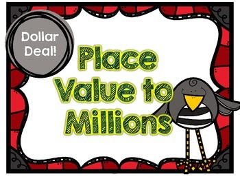 Dollar Deal-Place Value to Millions-12 Task Cards-With and