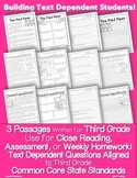Literature 3rd Grade Passages: Close Reading + Common Core