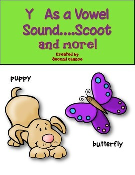 Dollar Deal! Y As a Vowel {Long e and Long i sounds} Scoot