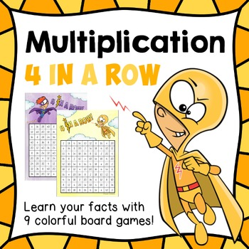 """Multiplication games """"4 in a row"""" / connect 4 _ facts 2 - 10"""