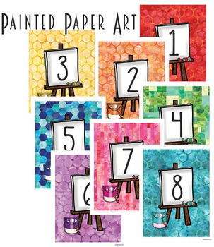Dollar Deals: Art Inspired Table Number Prints