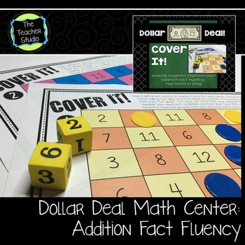 "Dollar Deals:  ""Cover It"": An Addition Fact Fluency Game"