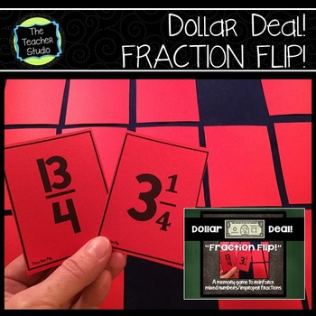 "Dollar Deals:  ""Fraction Flip"" A Memory Game"