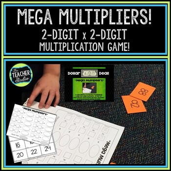 """Dollar Deals:  """"Mega Multipliers"""" Two by Two Digit Multipl"""