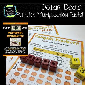 "Dollar Deals:  ""Pumpkin Products"": A Multiplication Fact F"
