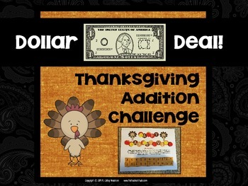 "Dollar Deals:  ""Thanksgiving Addition Challenge"": A Game t"