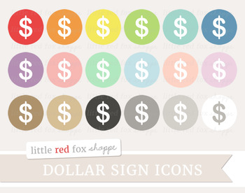 Dollar Sign Icon Clipart