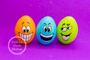 Dollar Stock Photo 209 Three Happy Easter Eggs