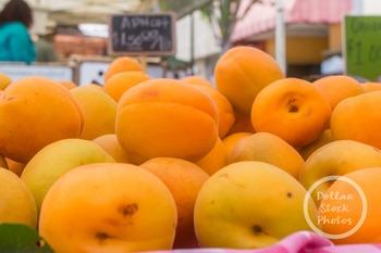 Dollar Stock Photo 302 Apricots at the Farmer's Market