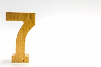 Dollar Stock Photo 356 Math Wooden Number Seven