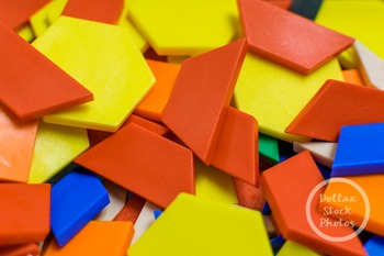 Dollar Stock Photo 364 Pile of Pattern Blocks
