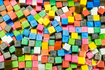 Dollar Stock Photo 382 Colorful Math Cubes