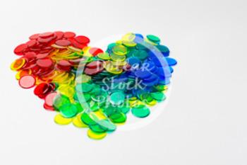 Dollar Stock Photo 402 Math Disks Heart