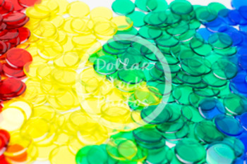 Dollar Stock Photo 412 Math Disks Rainbow