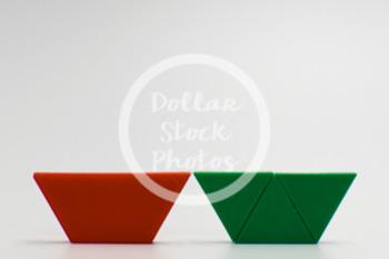 Dollar Stock Photo 421 Math Pattern Blocks Trapezoid and T