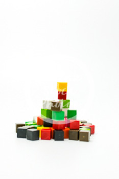 Dollar Stock Photo 427 Math Centimeter Cubes Pile