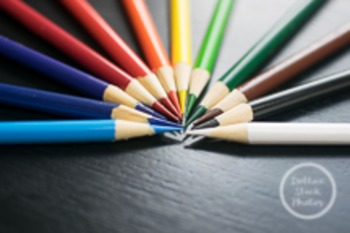 Dollar Stock Photo 78 Colored Pencils on a Black Table