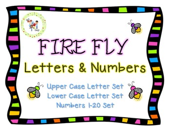 $$DollarDeals$$ Fire Fly Letter and Number Cards