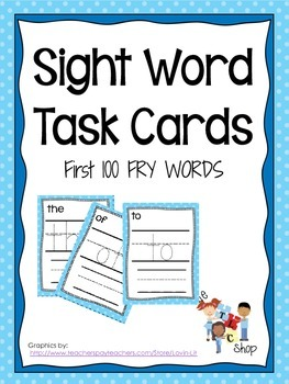 $$DollarDeals$$ Sight Word Task Cards
