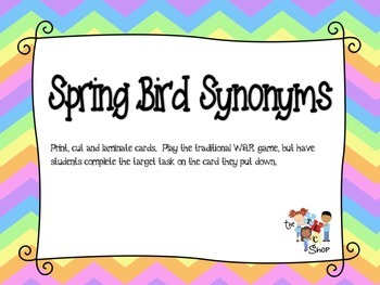 $$DollarDeals$$ Spring Bird Synonyms