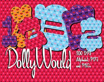 Dolly Would Love These! 4 Country Heart Alphabets  – 300 D