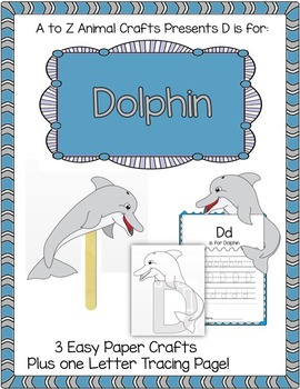 "Dolphin Craft and Letter ""D"" Tracing Page"