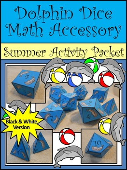 Dolphin Math: Dolphin Dice Templates Summer Math Center Activity