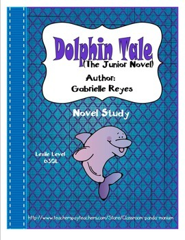 Dolphin Tale Novel Study (Free Task Cards Included) Common