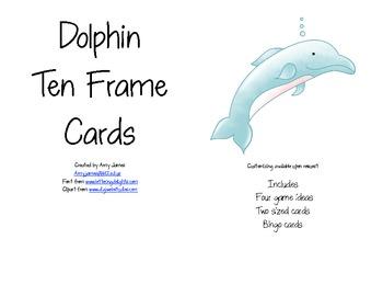 Dolphin Ten Frame Cards