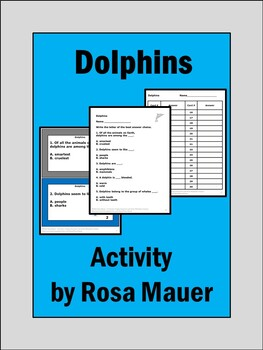 Dolphins Nature's Children task Cards