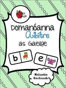 Domanóanna Aibítre as Gaeilge // Alphabet Dominoes in Irish
