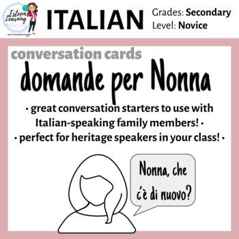 Domande per Nonna - Italian Conversational Topics for New