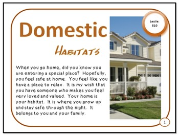Domestic Habitats Wanted and Unwanted Animal Homes PDF Pre
